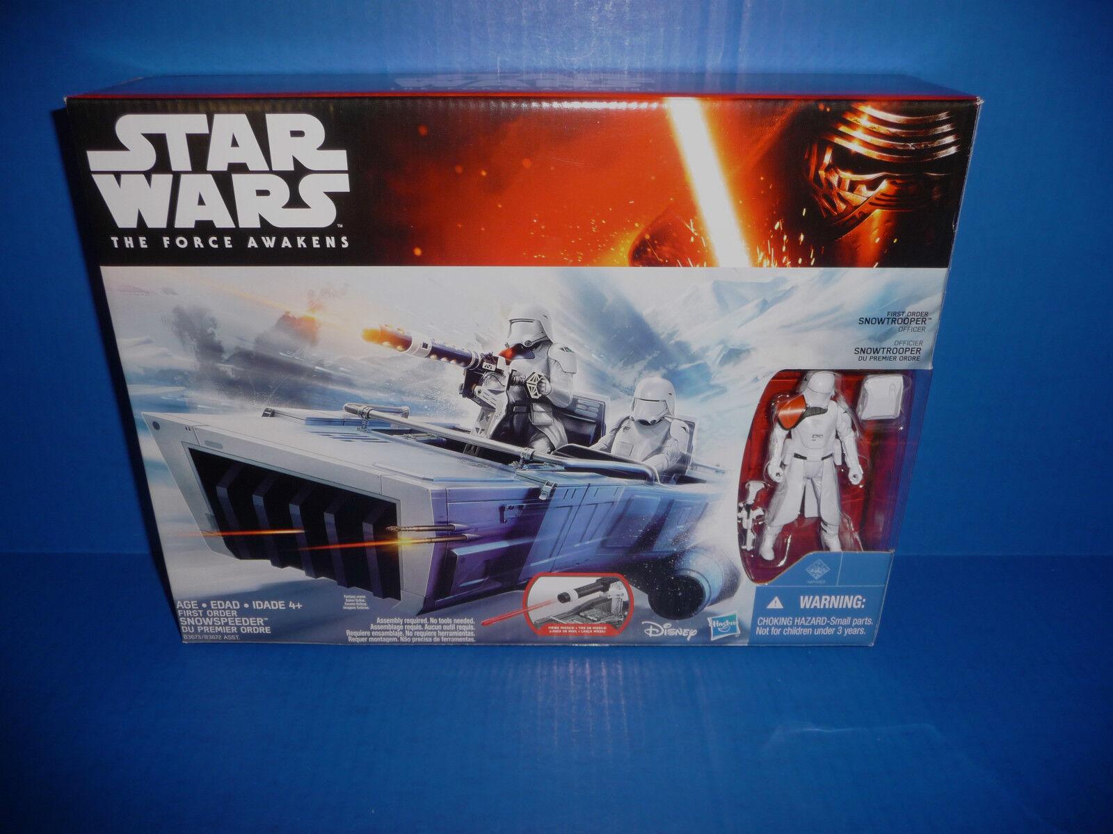 Star Wars The Force Awakens First Order Snowspeeder Vehicle & Snowtrooper Figure
