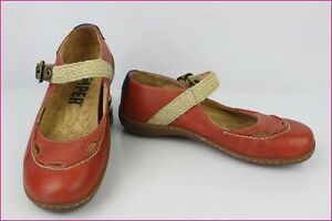 Ballet-flat-Babies-CAMPER-Red-Leather-T-36-TOP-CONDITION