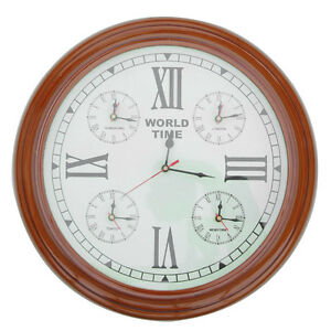 Handmade Clock Of The Ticking Moments Wooden World Wall