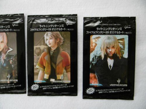 Final Fantasy 13 × Glyco original card Japan limited Complete 10 pieces set F//S
