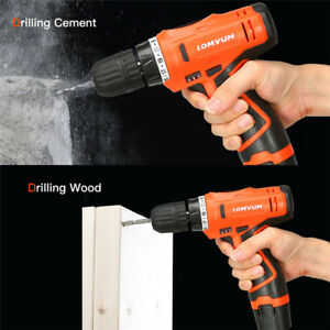 12V-Rechargeable-Cordless-Electric-Hand-Drill-Bit-Hole-Screwdriver-Driver-Power