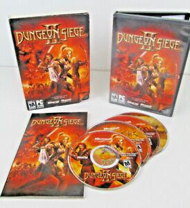 Dungeon-Siege-2-II-PC-CD-ROM-COMPLETE-4-Disc-w-Slip-Case-EUC