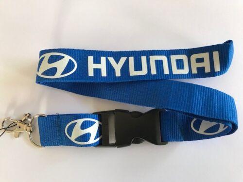 Blue White Hyundai Lanyard NEW UK Seller Keyring ID Holder Strap