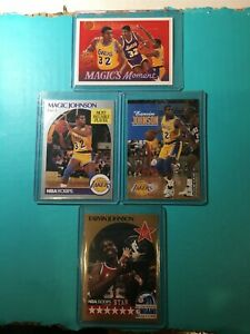 MAGIC-JOHNSON-4-HOOPS-UPPER-DECK-SKYBOX-HOOPS-ALL-STAR-LAKERS