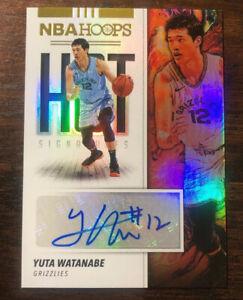 2019-20-Panini-NBA-Hoops-Yuta-Watanabe-Hot-Signatures-Autographed-Card-HS-YWT