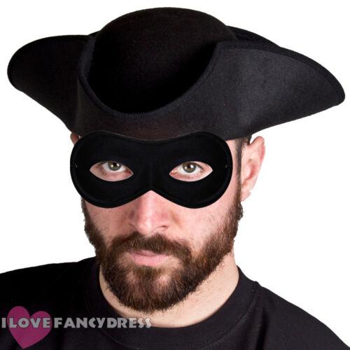 STD HIGHWAYMAN FANCY DRESS TRICORN HAT AND MASK BOOK WEEK COSTUME DICK TURPIN