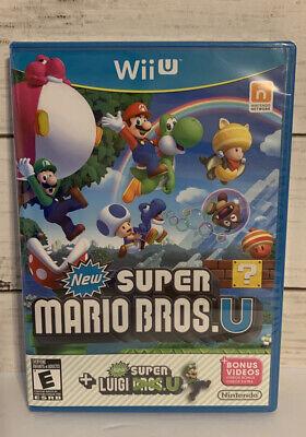 New Super Mario Bros U New Super Luigi U Nintendo Sealed Wii