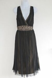 PRINCIPLES Dress UK Size 14 EUR 42 Black Net Over Lining Jewelled Waist and Neck - <span itemprop='availableAtOrFrom'>West Bromwich, United Kingdom</span> - PRINCIPLES Dress UK Size 14 EUR 42 Black Net Over Lining Jewelled Waist and Neck - West Bromwich, United Kingdom