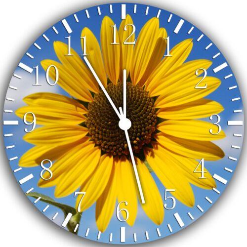 Sun Flower Frameless Borderless Wall Clock Nice For Gifts or Decor W185