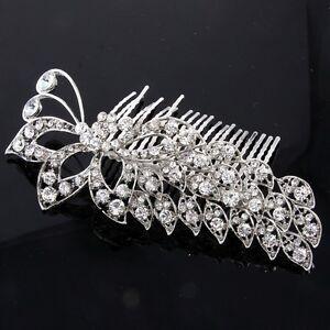 SH U1K1 Wedding Rhinestone Bridal Crystal Hair Headband Crown m Comb Pageant