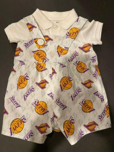 NBA LA Los Angeles Lakers Baby Infant Toddler Boys Jumper Overalls *U Pick Size*