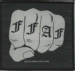 FUNERAL-FOR-A-FRIEND-fist-2004-WOVEN-SEW-ON-PATCH-official-no-longer-made