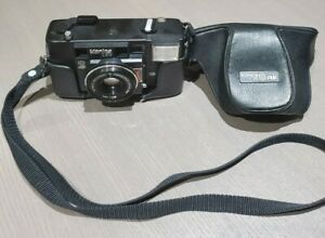 Konica-C35-AF-Point-amp-Shoot-Film-Camera-JAPAN-w-Case-and-Strap-Untested