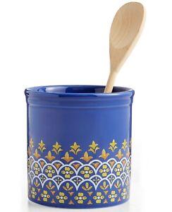 Martha Stewart Collection Kitchen Tool Crock Utensil Storage La Dolce Vita 35 Ebay