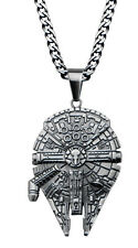Star Wars Millennium Falcon Metal Pendant Necklace