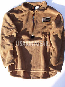 USMC PolarTec ECWCS Classic Coyote Fleece Military Cold Weather Shirt Jacket