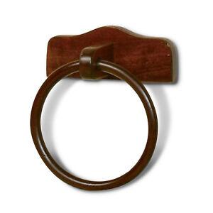 Porta salviette ad anello per bidet legno noce cm25x28x11 accessori ...