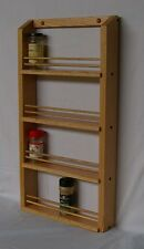 Oak 4-shelf Spice Rack