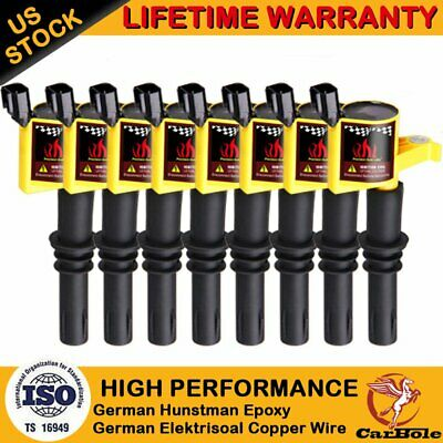 DG511 Ignition Coil 8 Pack For Ford F150 Expedition 4.6//5.4L 2004 2005 2006-2008