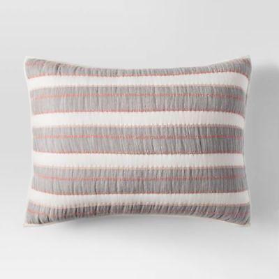 Threshold™ Gray Stitched Stripe Pillow Sham