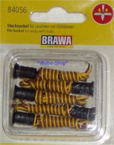 Brawa-84056-H0-Nachruestpackung-Stecksockel-5-Stueck-63956