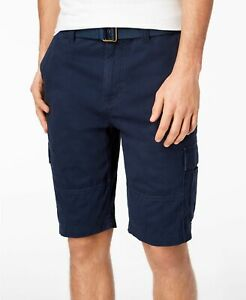 846b1fbb0e American Rag Men's Belted Relaxed Cargo Shorts,Size 29, Basic Navy ...