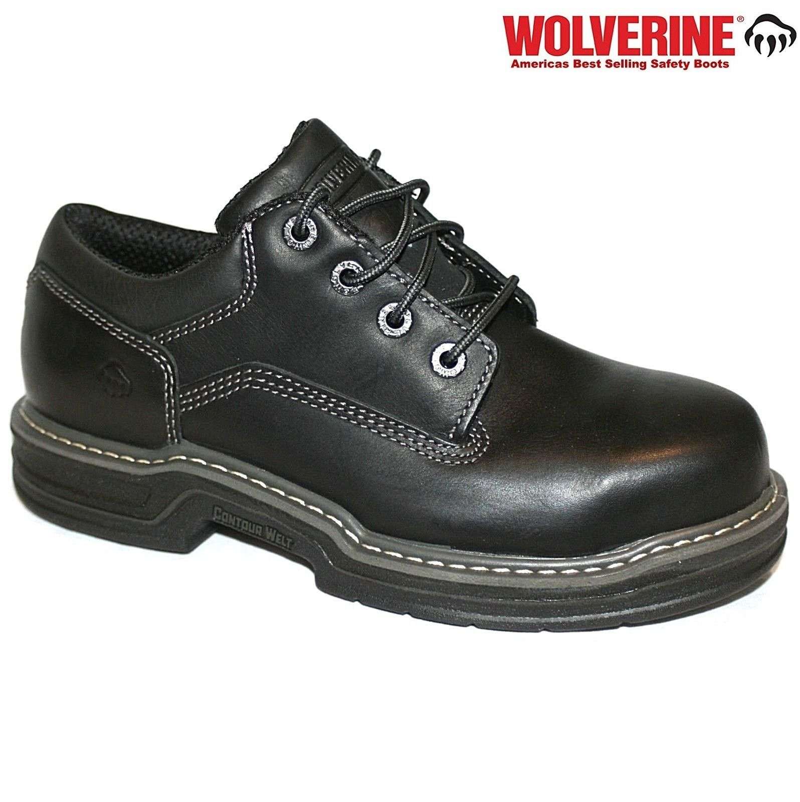 Wolverine Men's Raider Oxford Contour Welt Steel Toe Work Boots Black shoes Size