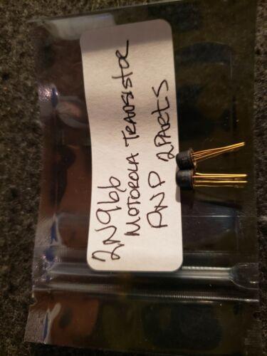 2N966 Motorola Black Gold Transistors 2 Parts