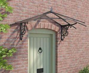Details about Palram Lily Door Canopy Awning Rain Shelter Front Back Porch  Patio Roof