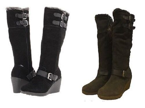 Brand New Khombu Womens Rainbow 2 Suede Winter Boots Size 6 Black or Brown