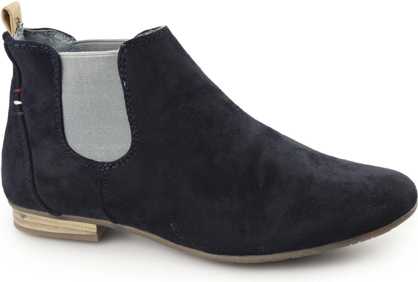 Divaz PISA Ladies Womens Soft Faux Suede Comfy Chelsea Ankle Boots Navy bluee
