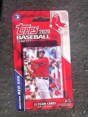 New 2020 Topps Baseball Boston Red Sox Factory Team Set 17 Cards Sale Martinez Ebay