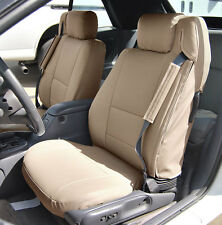 CHRYSLER SEBRING CONVERTIBLE BEIGE IGGEE S.LEATHER CUSTOM SEAT COVER