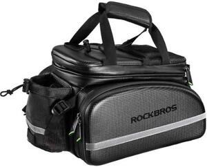ROCKBROS Cycling Rear Bag Bicycle Trunk MTB Pannier Rear Rack Carrier Bags Black