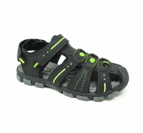 Boys Kids New Casual Slip On Easy Fasten Closed Toe Summer Sandals UK Size