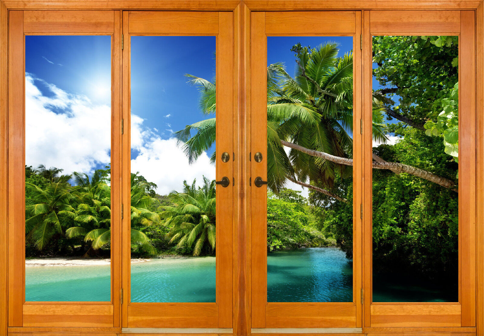 Aufkleber Fenster Schein Auge Deko der Tropen Ref 2578 (10 Größe)