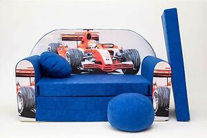 KIDS-SOFA-BED-168CM-FUTON-CHILDS-FURNITURE-FREE-POUFFE-FOOTSTOOL-amp-PILLOW