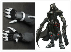 ow overwatch reaper cosplay costume reaper gloves pu leather hand
