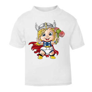 Little-Thor-Toddler-T-shirt-Baby-T-shirt-Novelty-Superhero-Tops-Hero-gifts