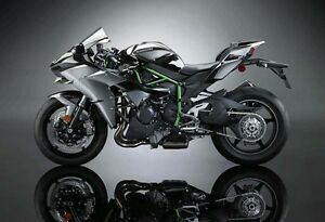 1-18-Maisto-Kawasaki-H2R-Black-Motorcycle-Diecast-Model-Removable-Base-Wheel-Toy