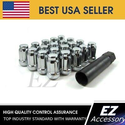 20 Pc Set Spline Tuner Lug Nuts ¦ 12x1.5 ¦ Blue ¦ Chevy Corvette Camaro