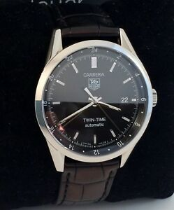 ef432f0d892d Tag Heuer Carrera Calibre 7 Twin Time Mens Automatic Watch Exc ...
