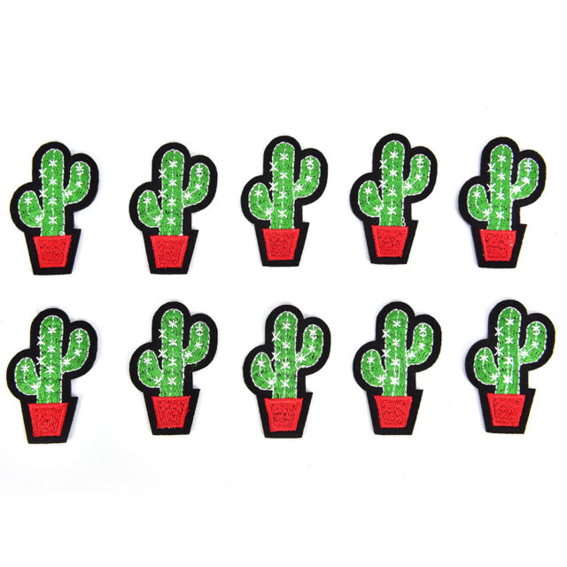 Lot 5X Cactus Patch for Cloth Iron on Embroidered Sew Appliques Fabric Badge Pip