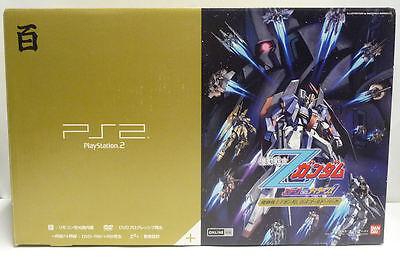 CONSOLE SONY PLAYSTATION 2 GUNDAM GOLD SCPH-55000 GU NTSC JAPAN BOXED PS2 NEW