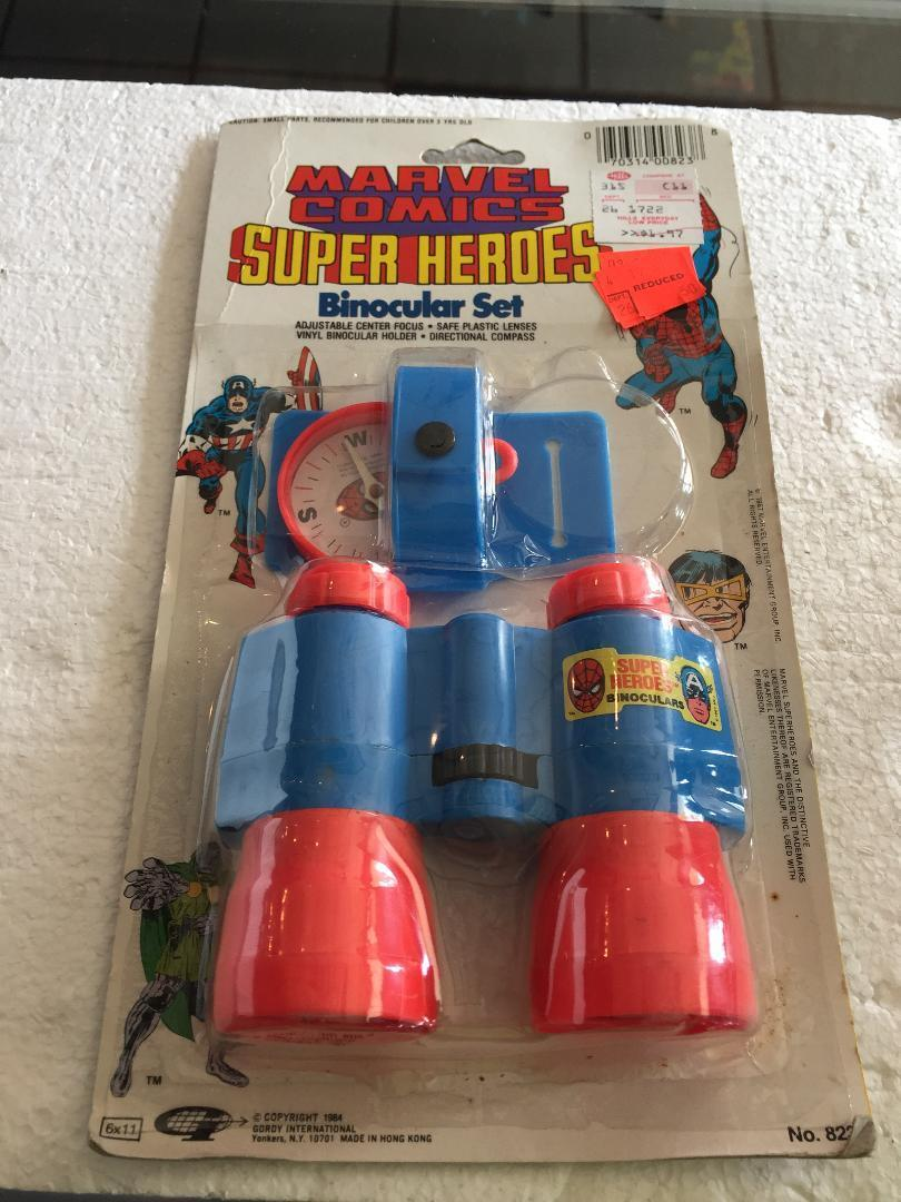 Vintage Marvel Comics Super Heroes Binocular Set