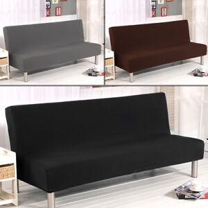 Armless Sofa Bed Cover Stretch
