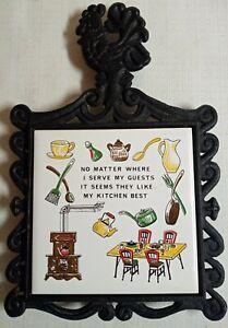 Vintage-Trivet-Kitchen-Cast-Iron-Ceramic-Tile-Hanging-LIKE-MY-KITCHEN-BEST-Japan
