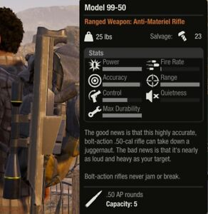 Details about Model 99-50 - Sniper Rifle State of Decay 2, Xbox One *Rare  In-Game Weapon*
