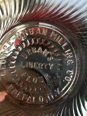 Buffalo NY Urban Milling Liberty Flour Pink Hobnail Depression Glass Plate