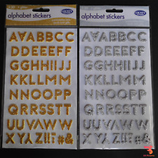 Pioneer 3D Gold Letter Stickers-Uppercase /& Lowercase 4 Pack